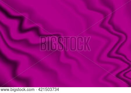 Silk Pink Background. Abstract Vector Pattern With Copy Space. Liquid Wave Texture, Smooth Drapery W