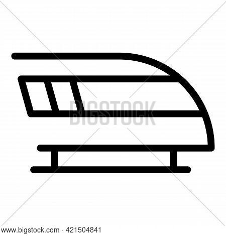 Traffic Fast Train Icon. Outline Traffic Fast Train Vector Icon For Web Design Isolated On White Bac