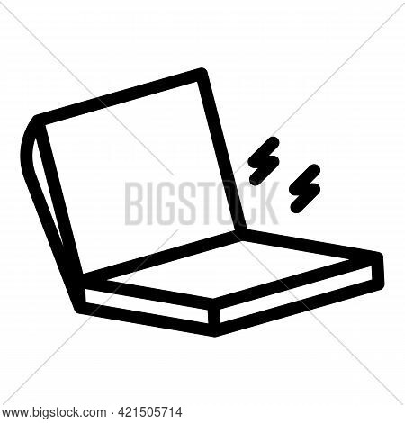 Laptop Attack Icon. Outline Laptop Attack Vector Icon For Web Design Isolated On White Background
