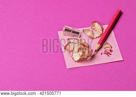Copy Space, Bright Color, Paper Background, Magenta, Magenta Background, Pencil Shavings, Art, Back