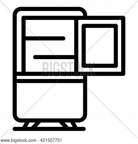 Fridge Repair Icon. Outline Fridge Repair Vector Icon For Web Design Isolated On White Background