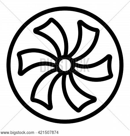 Gear Refrigerator Icon. Outline Gear Refrigerator Vector Icon For Web Design Isolated On White Backg