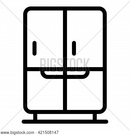 Service Refrigerator Icon. Outline Service Refrigerator Vector Icon For Web Design Isolated On White