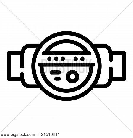 Plumbing Pressure Icon. Outline Plumbing Pressure Vector Icon For Web Design Isolated On White Backg