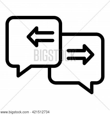 Chat Backup Icon. Outline Chat Backup Vector Icon For Web Design Isolated On White Background
