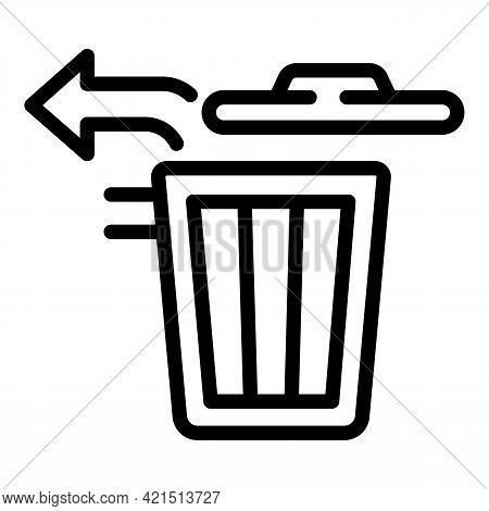 Restore Trash Bin Icon. Outline Restore Trash Bin Vector Icon For Web Design Isolated On White Backg