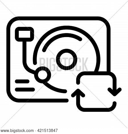 Music Backup Icon. Outline Music Backup Vector Icon For Web Design Isolated On White Background