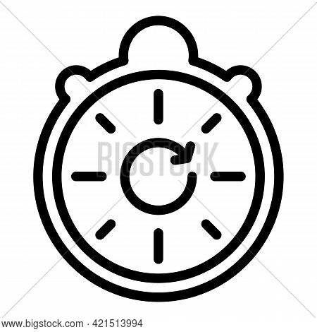 Watch Update Icon. Outline Watch Update Vector Icon For Web Design Isolated On White Background
