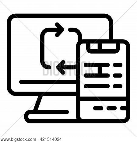 System Backup Icon. Outline System Backup Vector Icon For Web Design Isolated On White Background
