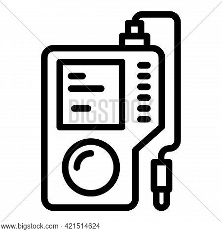 Ph Tool Icon. Outline Ph Tool Vector Icon For Web Design Isolated On White Background