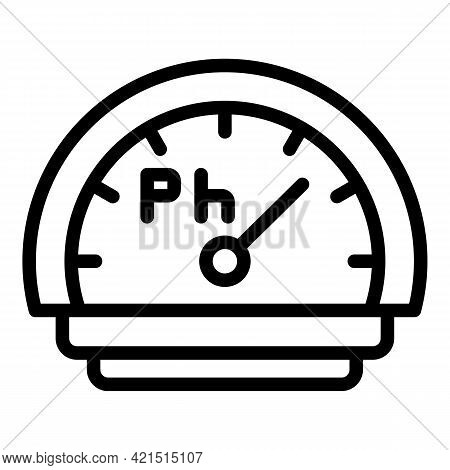 Display Ph Meter Icon. Outline Display Ph Meter Vector Icon For Web Design Isolated On White Backgro