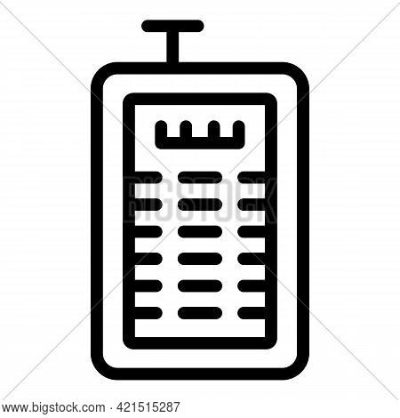 Laser Meter Icon. Outline Laser Meter Vector Icon For Web Design Isolated On White Background