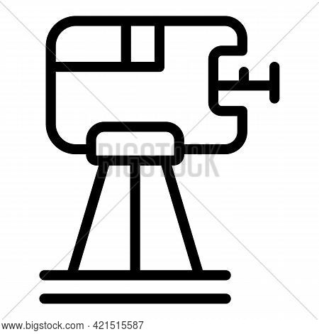 Tripod Laser Meter Icon. Outline Tripod Laser Meter Vector Icon For Web Design Isolated On White Bac