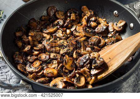 Homemade Healthy Sauteed Mushrooms