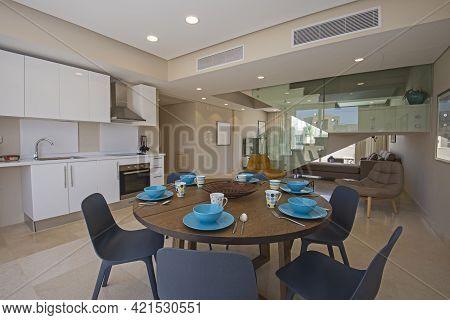 Living Room Lounge Area In Luxury Duplex Apartment Show Home Showing Interior Design Decor Furnishin