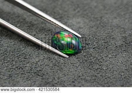 Natural Welo Ethiopian Opal Gemstone. Treated, Carbonated, Darkened. Saturation Enhanced. Reach, Bri