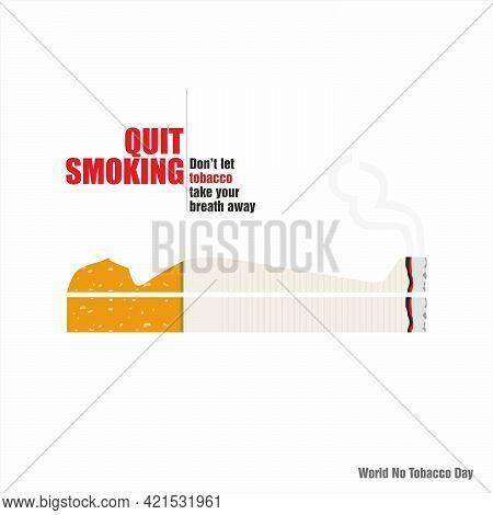 Conceptual Creative Of World No Tobacco Day | No Tobacco Day Banner | Illustration