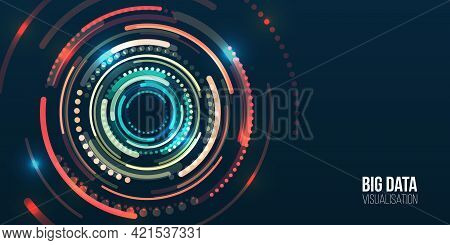 Abstract Stream Information With Circles Array. Filtering Machine Algorithms. Sorting Data. Vector T