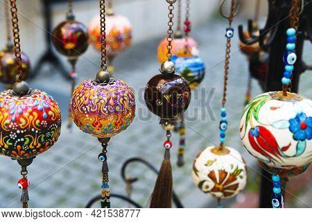 National Turkish Lanterns On The Street Of Istanbul