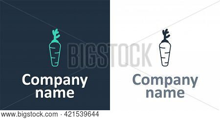 Logotype Carrot Icon Isolated Logotype Background. Logo Design Template Element. Vector