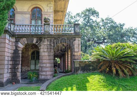 New Orleans, La - September 7: Wraparound Porch Of Luling Mansion In Faubourg St. John Neighborhood