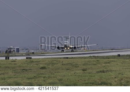 KONYA, TURKEY - June 08 2016: Several planes of Turkish Air Force, including Boeing 737 AEW&C gather