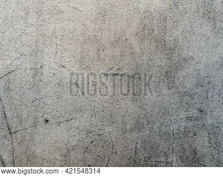Grey Cement Artistic Pattern Texture Background. Abstract Background Of An Aged Scratched Cement Wal