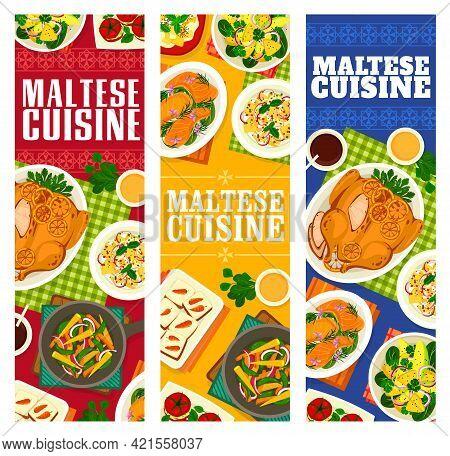 Maltese Cuisine Vector Vegetable Saute, Avocado Pineapple Salad And Carrot Cupcakes, Stuffed Tomatoe