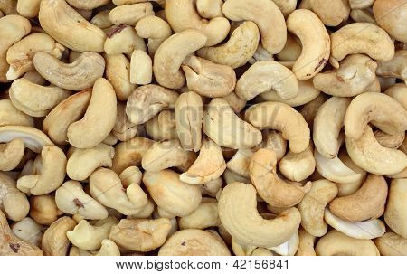 Whole Unsalted Cashews Up Close