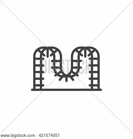 Ladder Playground Line Icon. Linear Style Sign For Mobile Concept And Web Design. Climbing Playgroun