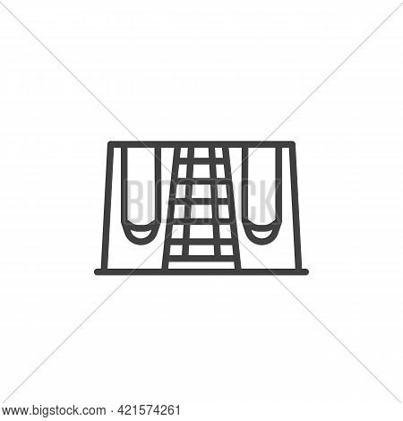 Swing Playground Line Icon. Linear Style Sign For Mobile Concept And Web Design. Children Playground