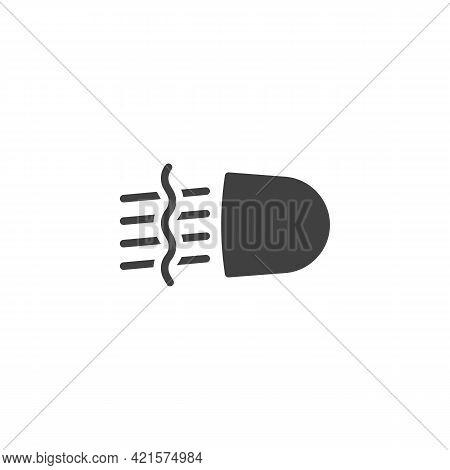 Front Fog Light Vector Icon. Filled Flat Sign For Mobile Concept And Web Design. Car Fog Light Glyph