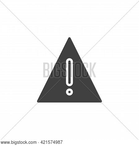 Warning Sign Vector Icon. Filled Flat Sign For Mobile Concept And Web Design. Exclamation Mark Trian