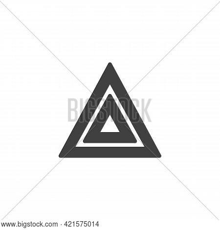 Car Hazard Light Vector Icon. Filled Flat Sign For Mobile Concept And Web Design. Hazard Warning Lig