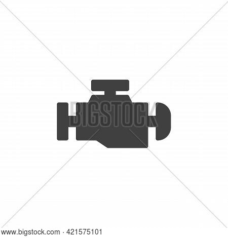 Engine Management Indicator Vector Icon. Filled Flat Sign For Mobile Concept And Web Design. Vehicle