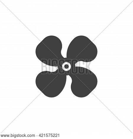 Car Ventilation Fan Vector Icon. Filled Flat Sign For Mobile Concept And Web Design. Ventilating Fan