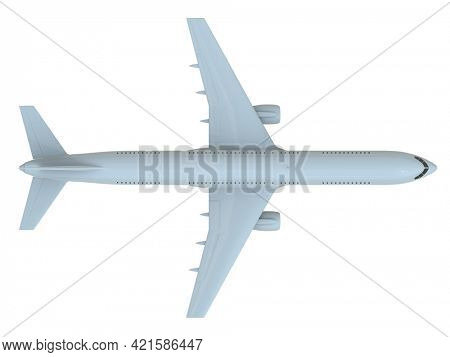 CommercialPassenger Plane in Airon White, VacationTravel by Air Transport,AirlinerTake OffFlying,Aircraft Flight andAviationRouteAirline Sign, Aviation Cargo Service3d Illustration