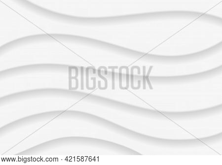 Wavy Background, Gray Abstract Pattern Design Template Vector Illustration