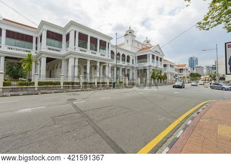 Penang, Malaysia - February 13,2019 : Old Colonial Building Of Penang High Court Georgetown In Penan