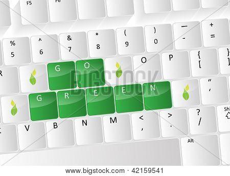Go Green Keyboard Concept