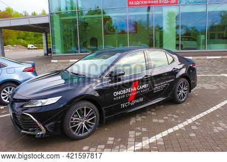 Kyiv, Ukraine - July 29, 2020: Toyota Camry At Store