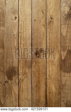 Retro Style Vintage Brown Painted Wooden Textured Boards As Background Front View Vertical Close-up