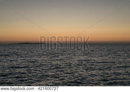 Sunrise Panorama Over The Red Sea. Egypt. Sunrise Over The Sea. Beautiful Sunrise. Tyrrhenian Sea Su