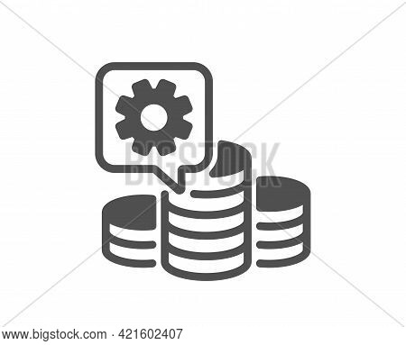 Making Money Simple Icon. Budget Gain Sign. Money Working Symbol. Classic Flat Style. Quality Design