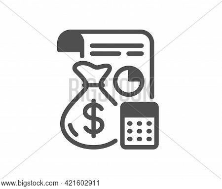 Accounting Simple Icon. Finance Management Sign. Business Economy Symbol. Classic Flat Style. Qualit
