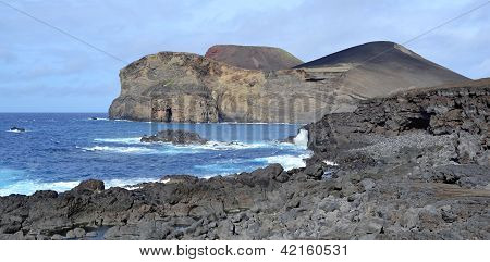 Azores Faial Vulcao dos Capelinhos exploded in the middle of the twentieth century