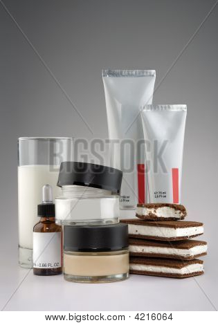 Cosmetics, Milk And Ice Cream