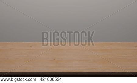 Cgi - Empty Work Desk. Office Interior. 3d Rendering