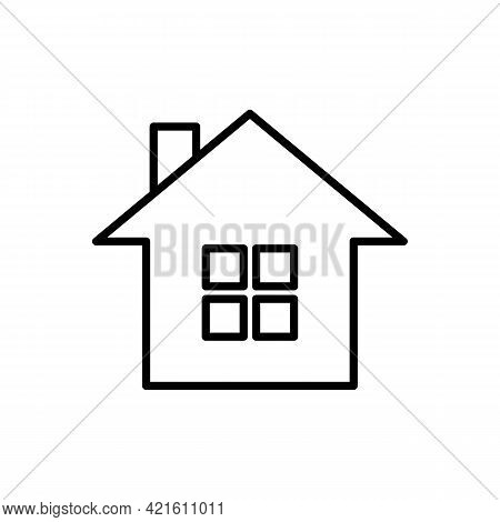 Home Or House Page Black Thin Line Icon. Return To Home Page. Trendy Flat Style Isolated Symbol Sign