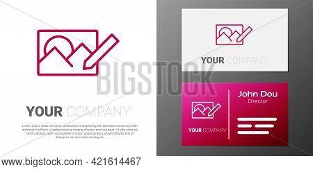 Logotype Line Photo Retouching Icon Isolated On White Background. Photographer, Photography, Retouch